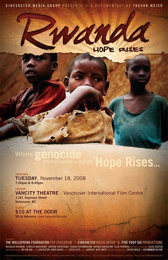 Rwanda: Hope Rises official poster - Vancity Premiere