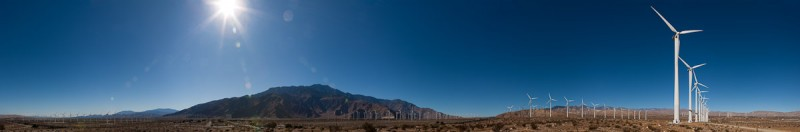 Palm Springs Wind Turbines Pano