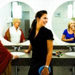 The Robert Lee YMCA's well-adorned Membership Plus change rooms
