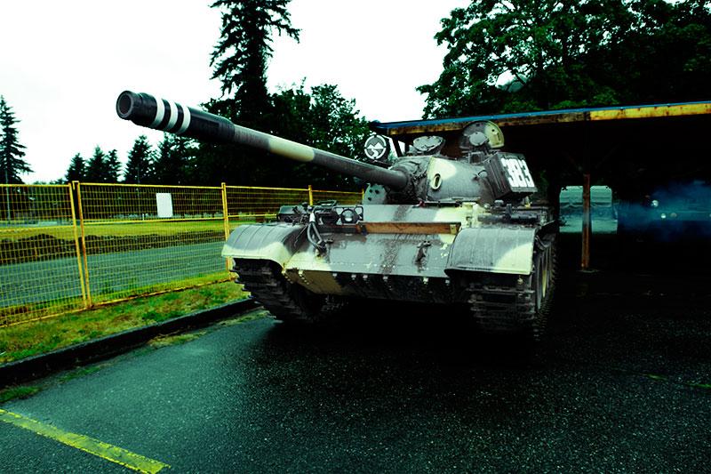Russian T-55 Test Drive