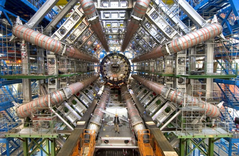 View from the central axis of the LHC (CERN)