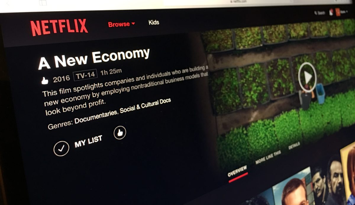 A New Economy is now on Netflix!